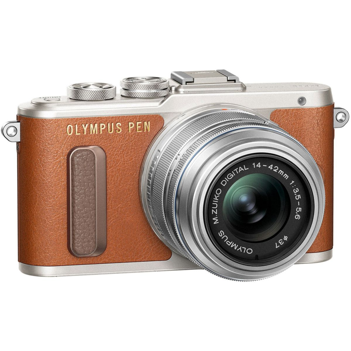 Appareil photo Hybride OLYMPUS Pen E-PL8 marron + 14-42mm EZ