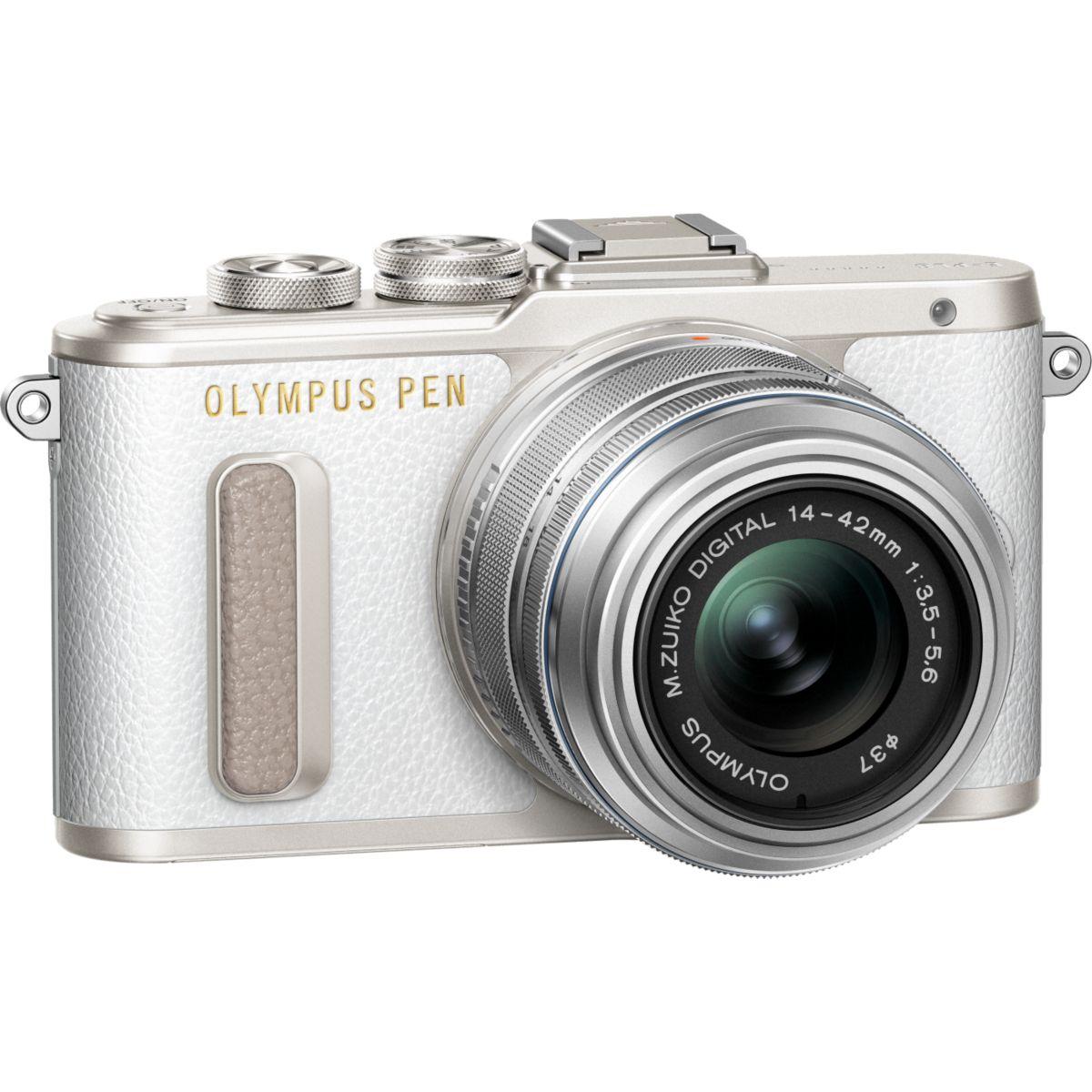 Appareil photo Hybride OLYMPUS Pen E-PL8 Blanc + 14-42mm EZ