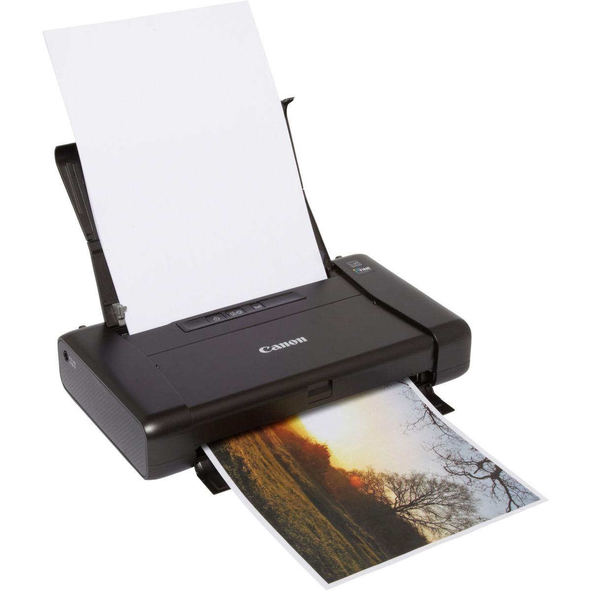 Imprimante monofonction jet d'encre CANON Pixma iP110 avec batterie (photo)