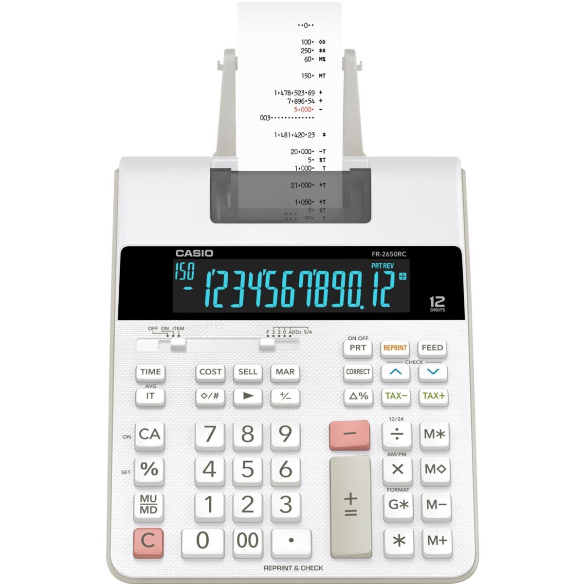 Calculatrice imprimante CASIO FR-2650RC (photo)