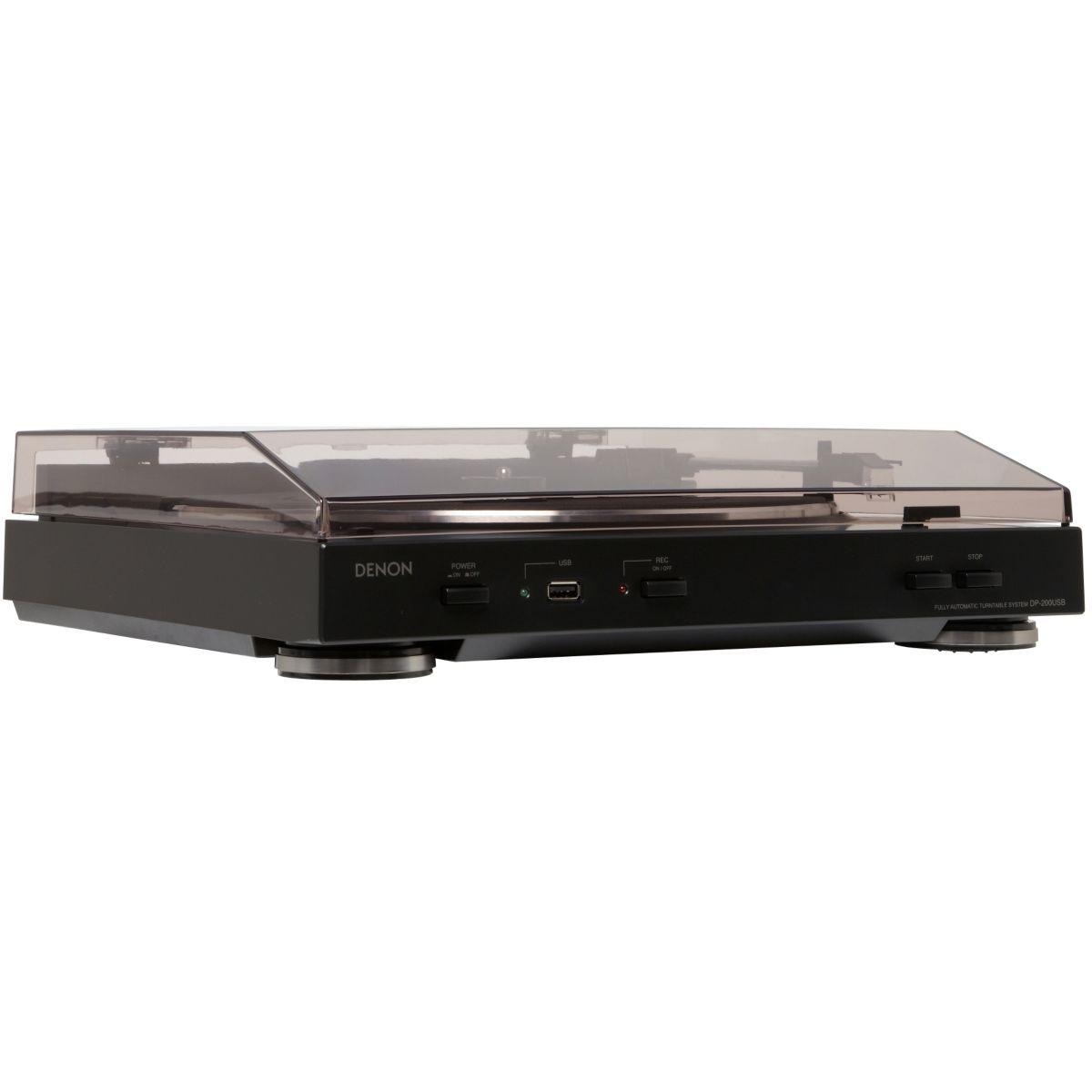 Platine vinyle USB DENON DP-200USB noire