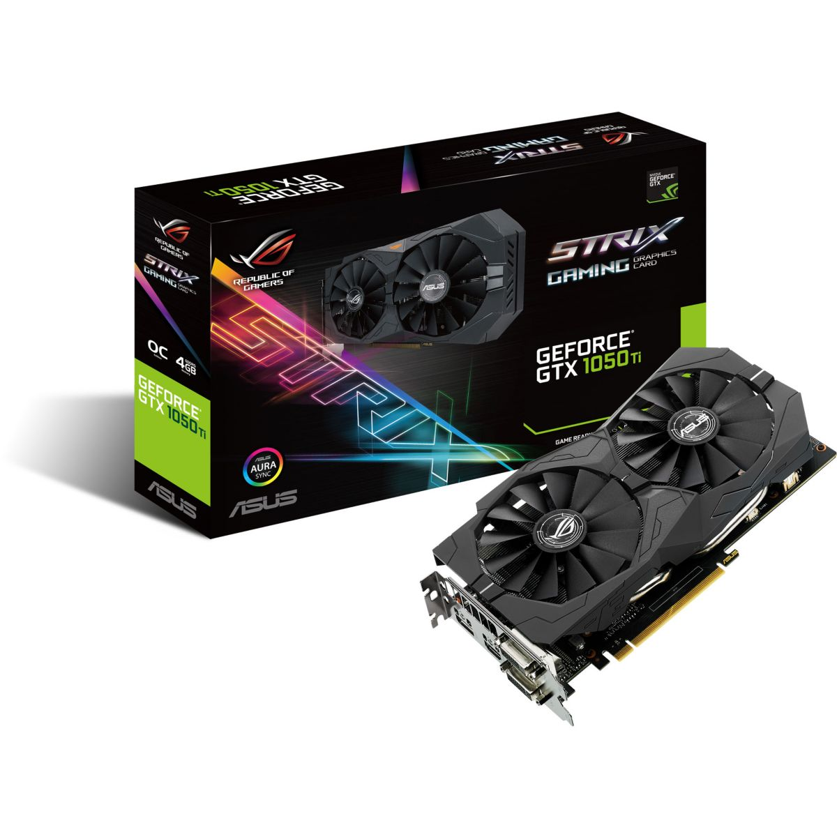 Carte Graphique ASUS STRIX-GTX1050TI-O4G