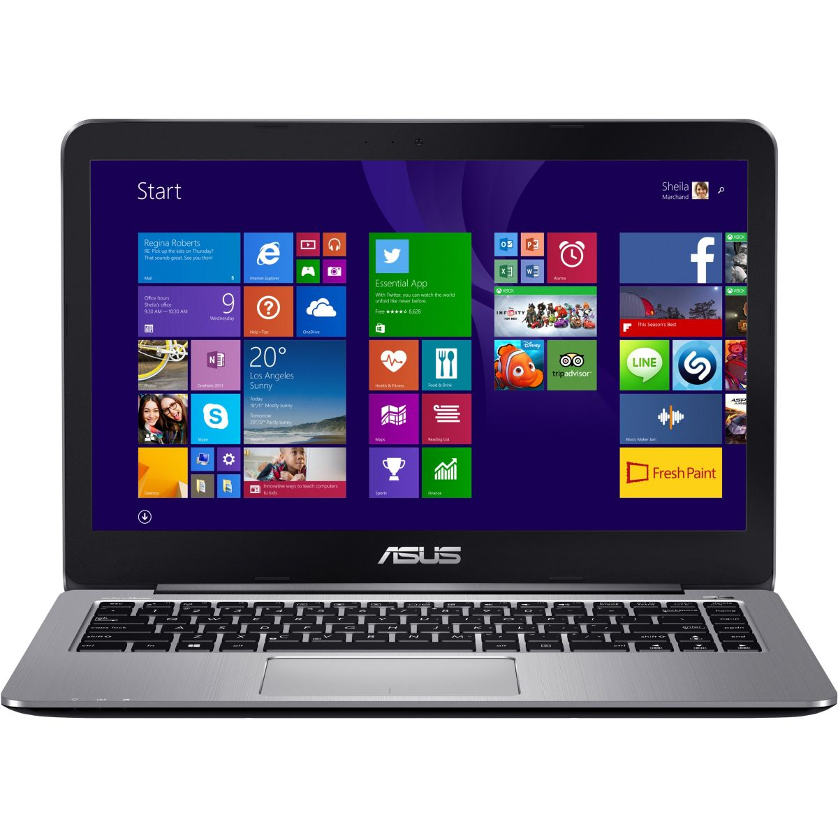 Ordinateur portable ASUS Pack E403NA-FA115TS + office+ sacoche