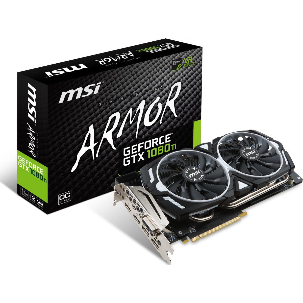 Carte graphique Nvidia MSI GeForce GTX 1080 Ti ARMOR 11G OC