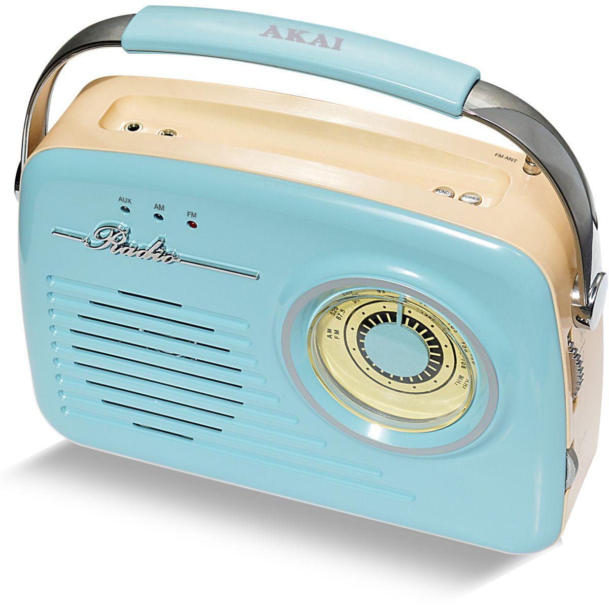 Radio analogique AKAI AR-78 bleu