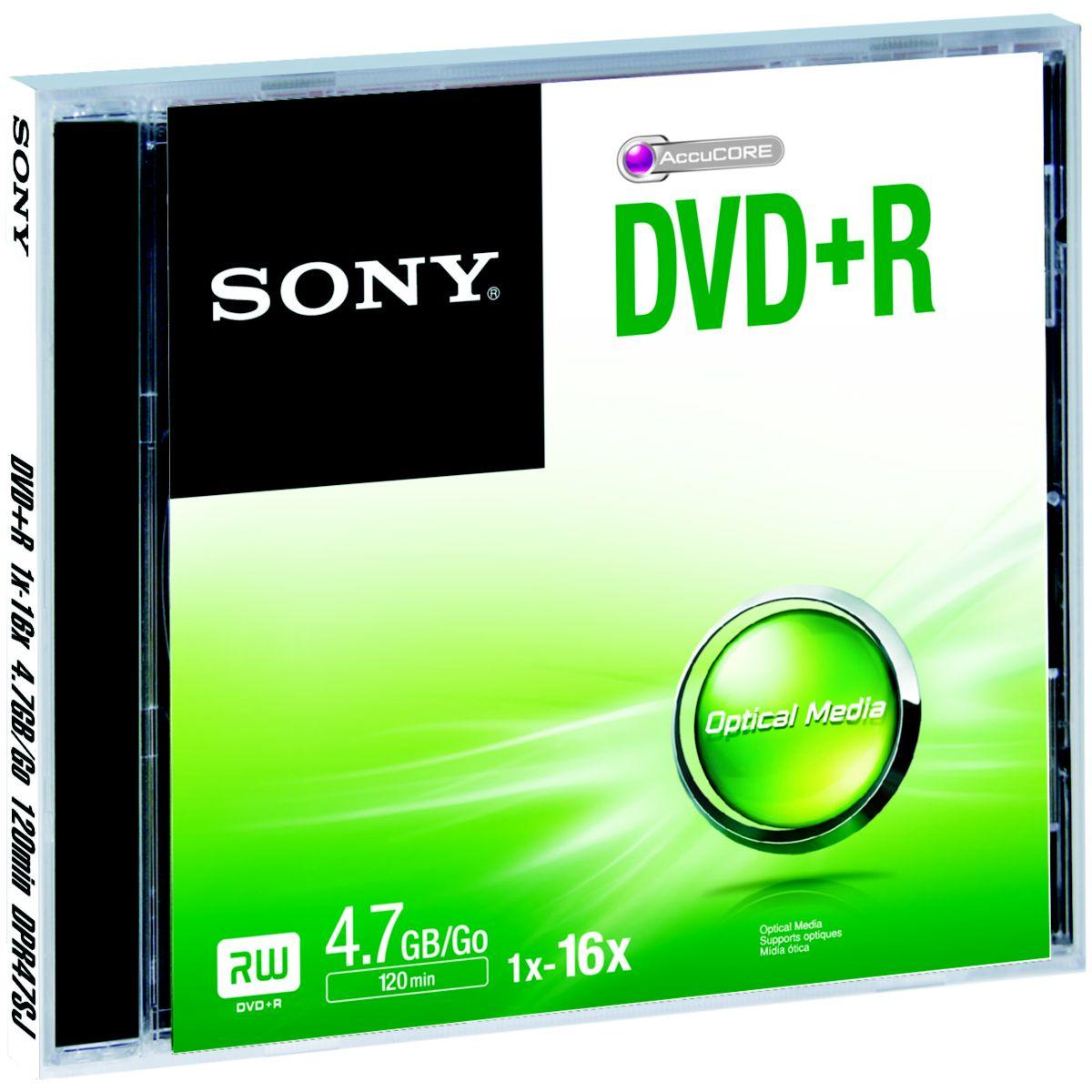 DVD SONY DVD+R 4.7GB X5