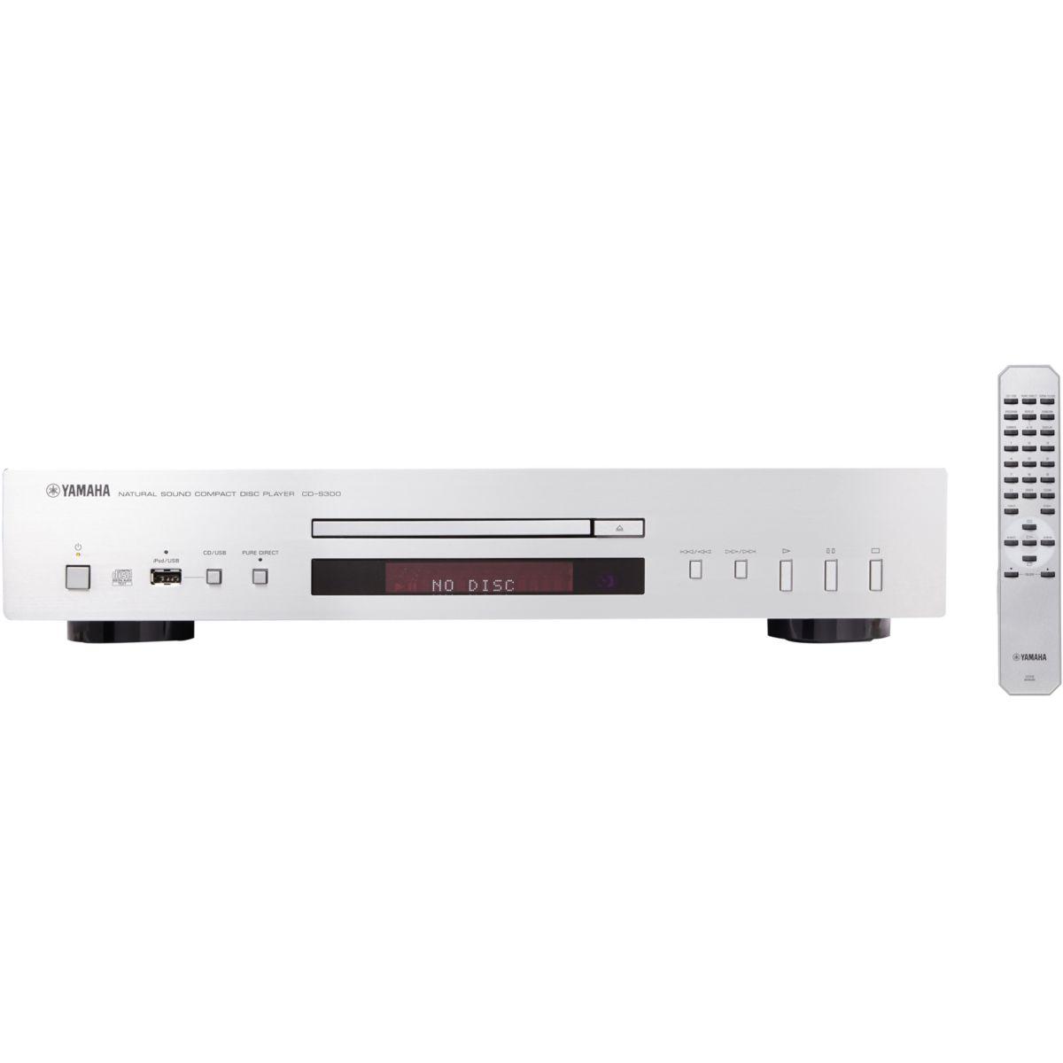 Pack promo Platine CD YAMAHA CD-S300 Silver + Amplificateur Hi-Fi DENON PMA520 Silver