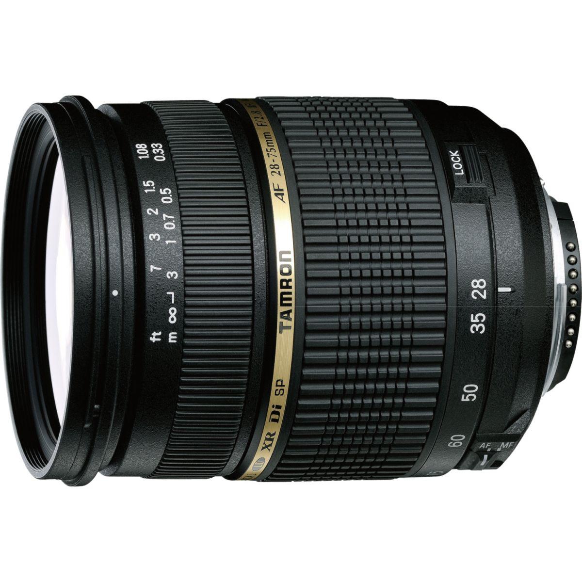 Objectif TAMRON 28-75mm F/2,8 SP Asph XR Di LD IF macro Nikon (pour reflex NIKON)