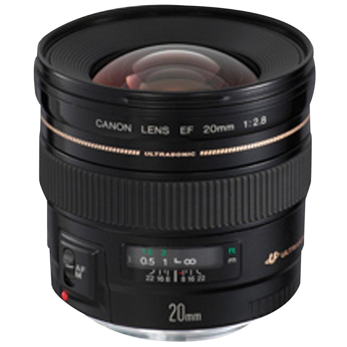 Objectif pour Reflex CANON EF 20mm f/2.8 USM
