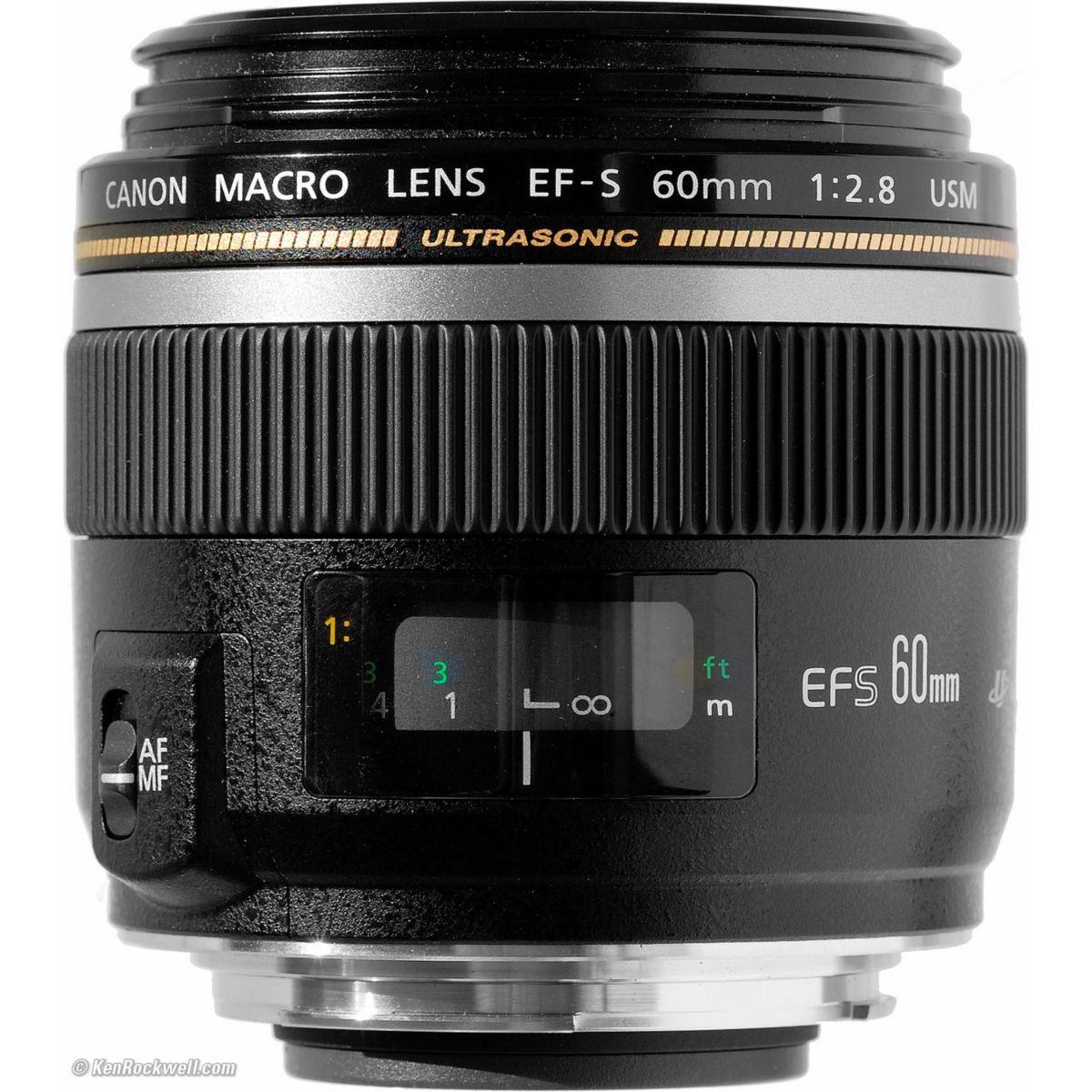 Objectif CANON EF-S 60mm 1:2,8 Macro USM (pour reflex CANON)