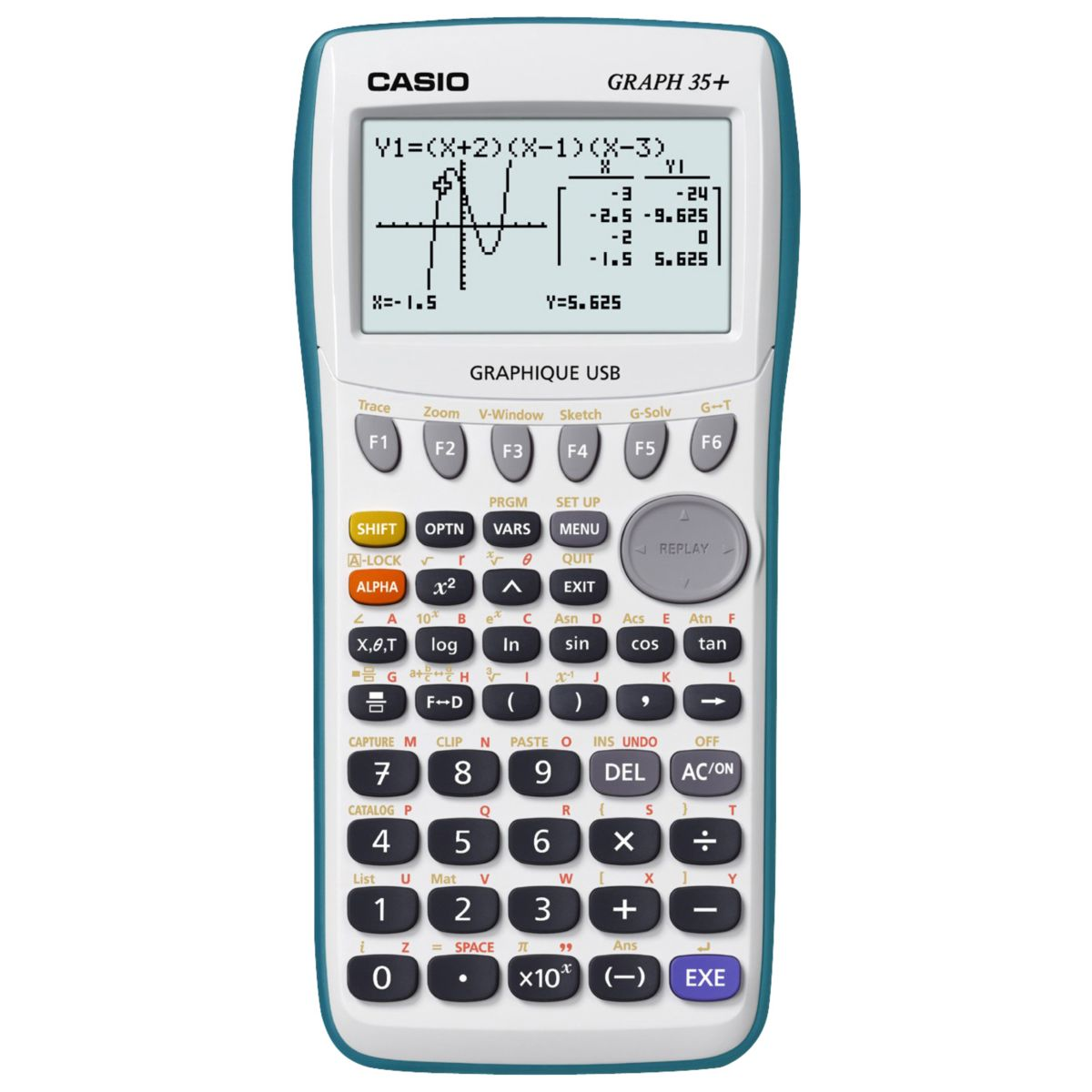 Calculatrice graphique CASIO GRAPH 35+ E (photo)