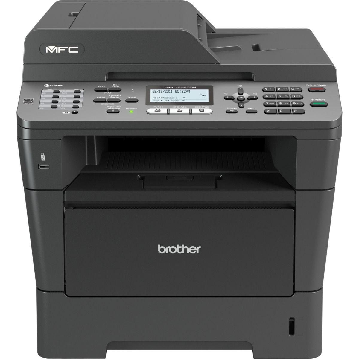 Imprimante multifonction laser monochrome BROTHER MFC-8520DN (photo)