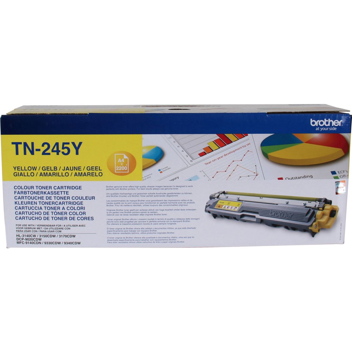 Cartouche Toner BROTHER TN245 Jaune XL
