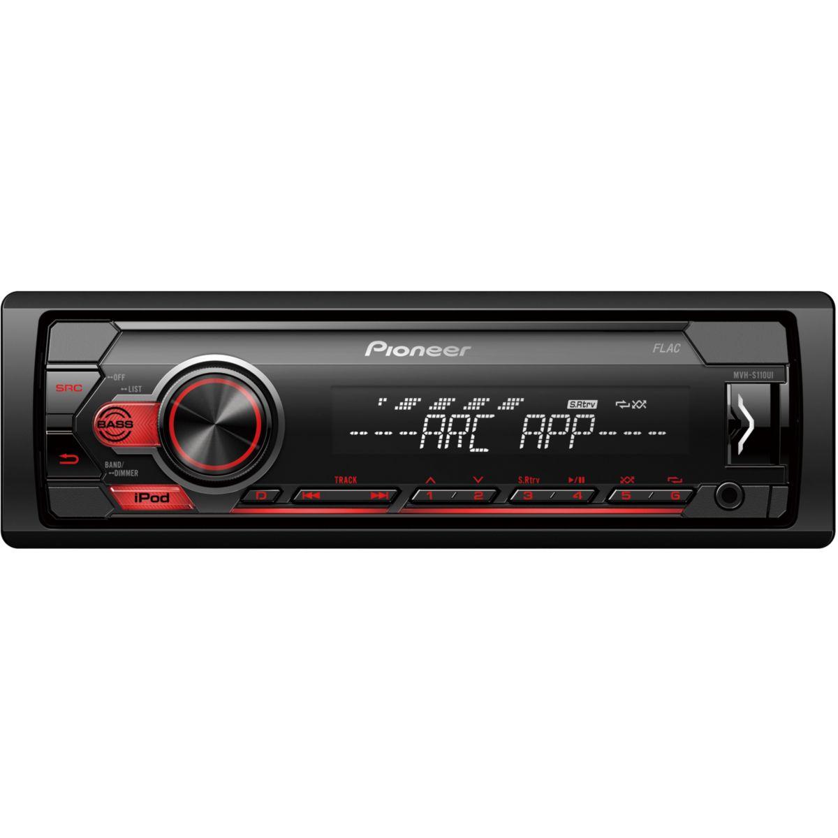 Autoradio MP3 PIONEER MVH-S110Ui USB iPod (photo)
