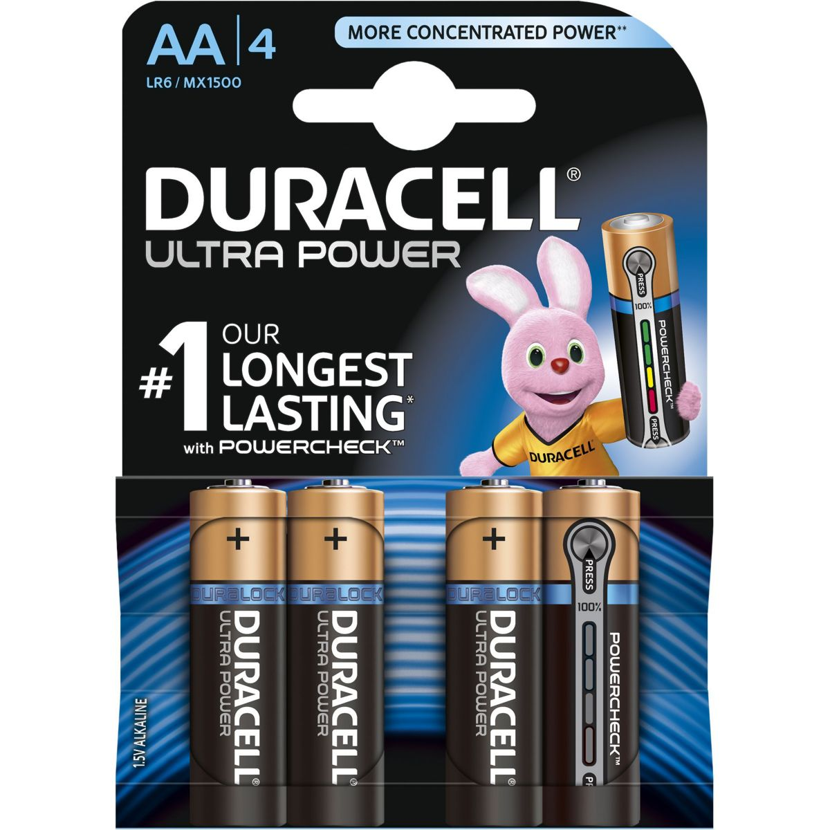 Pile DURACELL AAA x4 Ultra Power LR03 (photo)