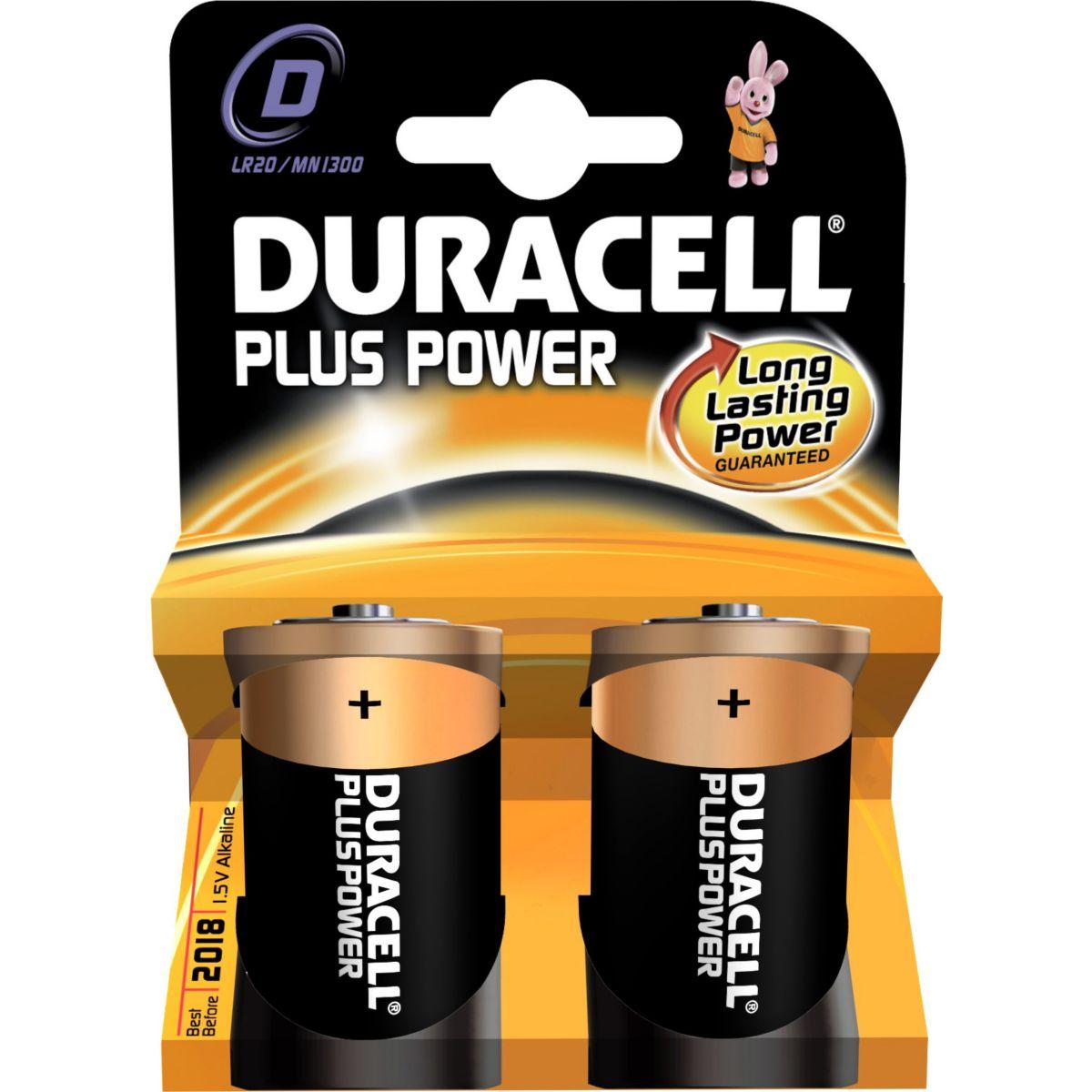 Pile DURACELL LR 20 Plus Power * 2 (photo)