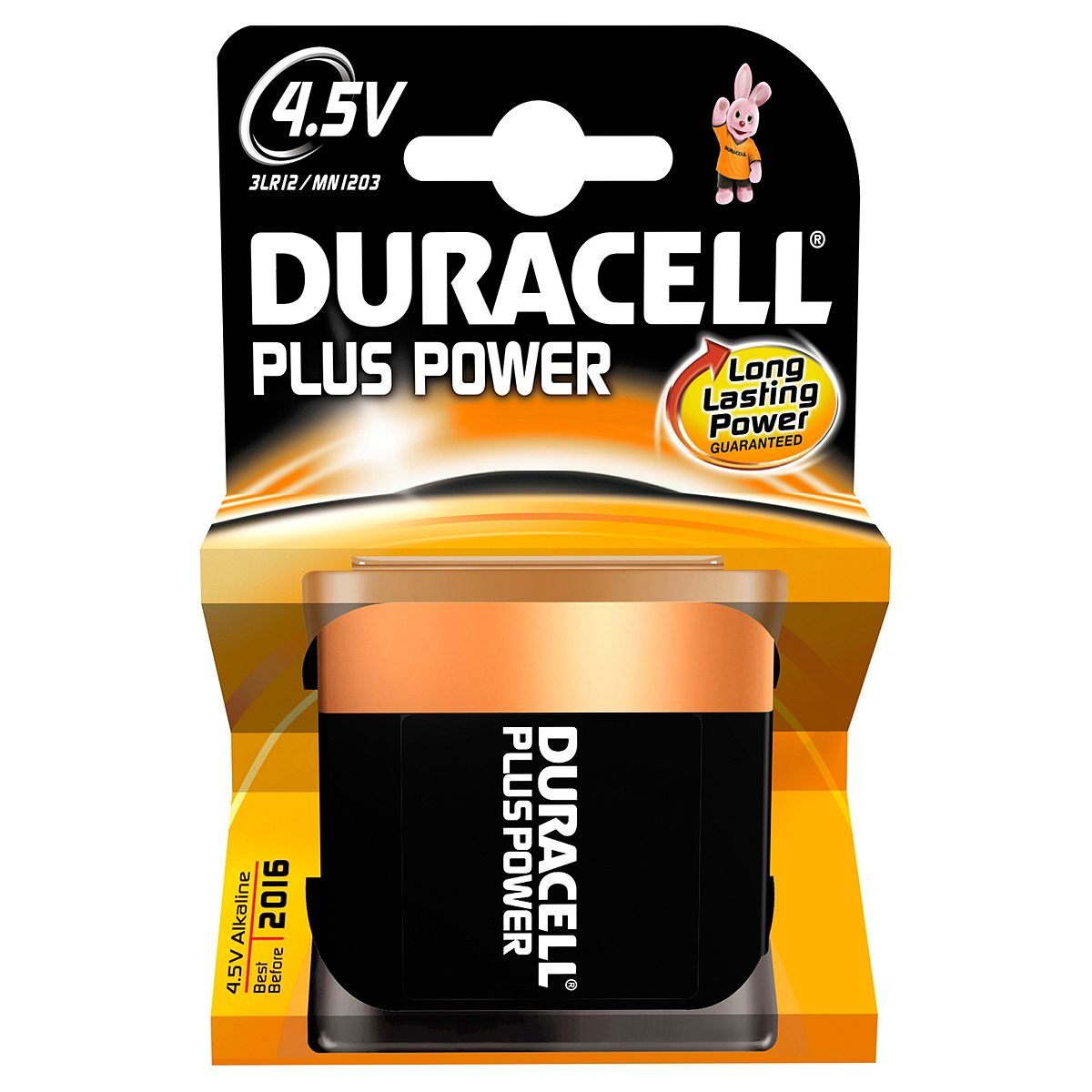 Pile DURACELL 4,5 Volts x1 Plus Power (photo)