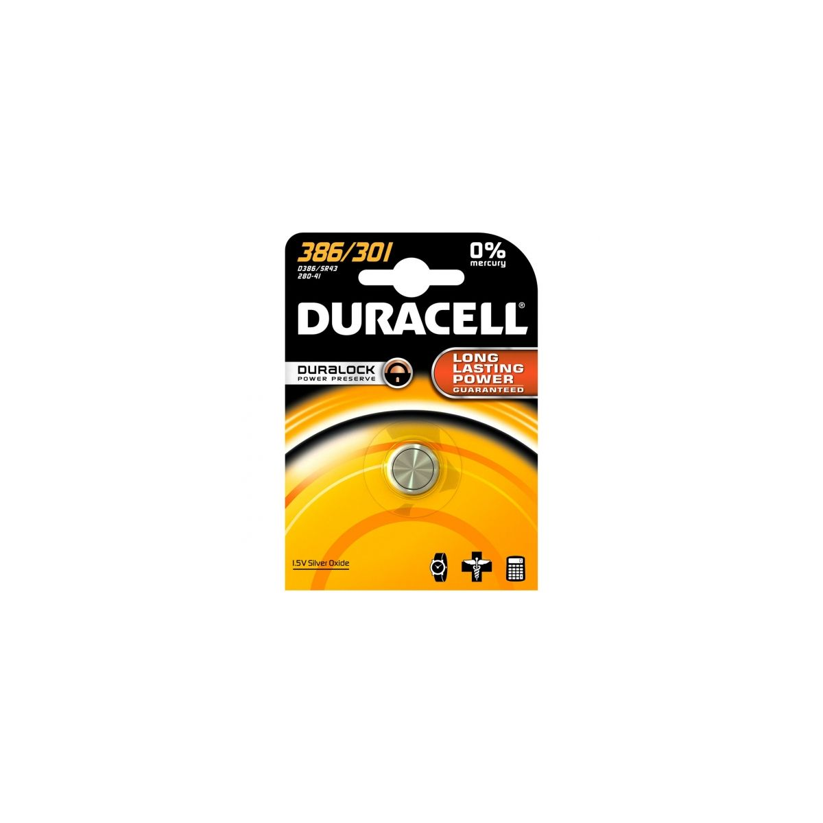 Pile DURACELL 386/301 (photo)