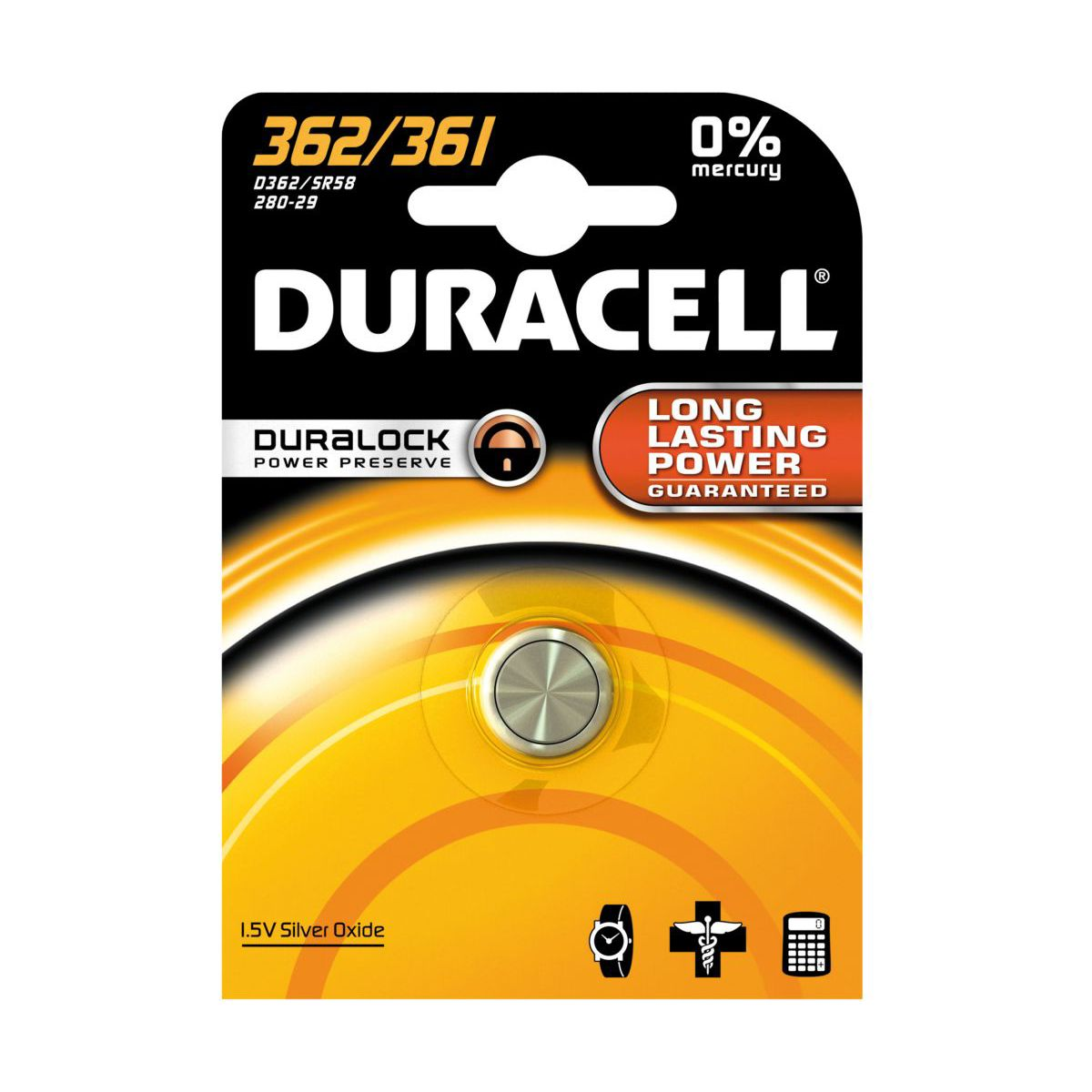 Pile DURACELL 362/361 (photo)