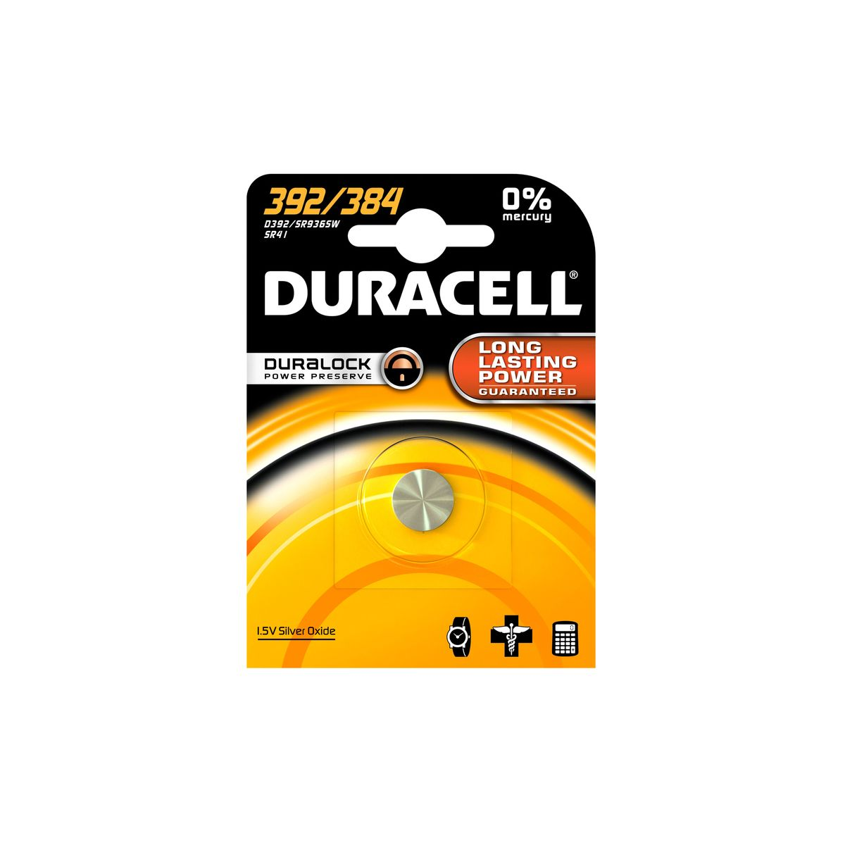 Pile DURACELL 392/384 (photo)