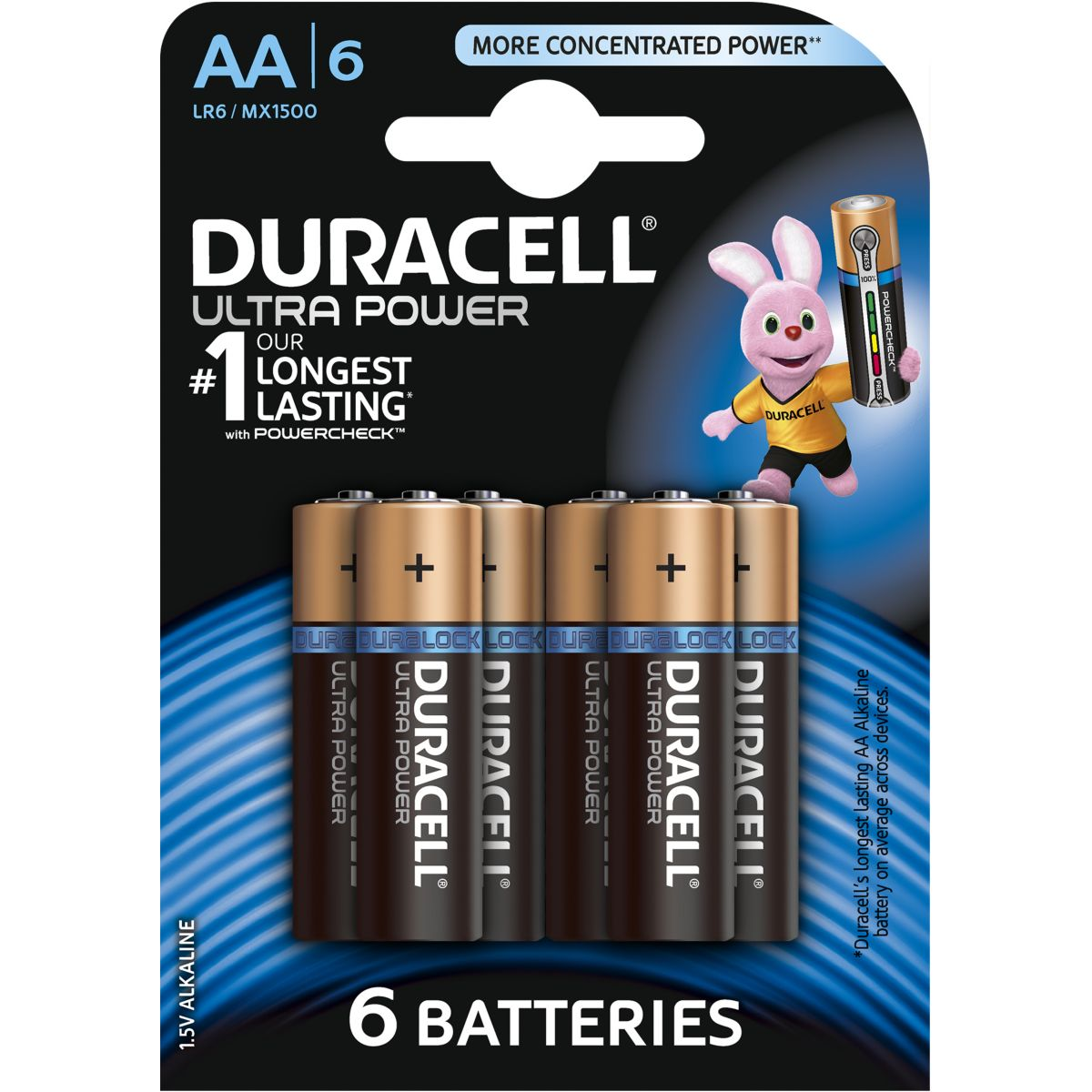 Pile DURACELL AA x6 Ultra Power LR06 (photo)
