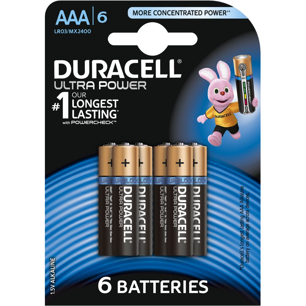 Pile DURACELL AAA x6 Ultra Power LR03 (photo)