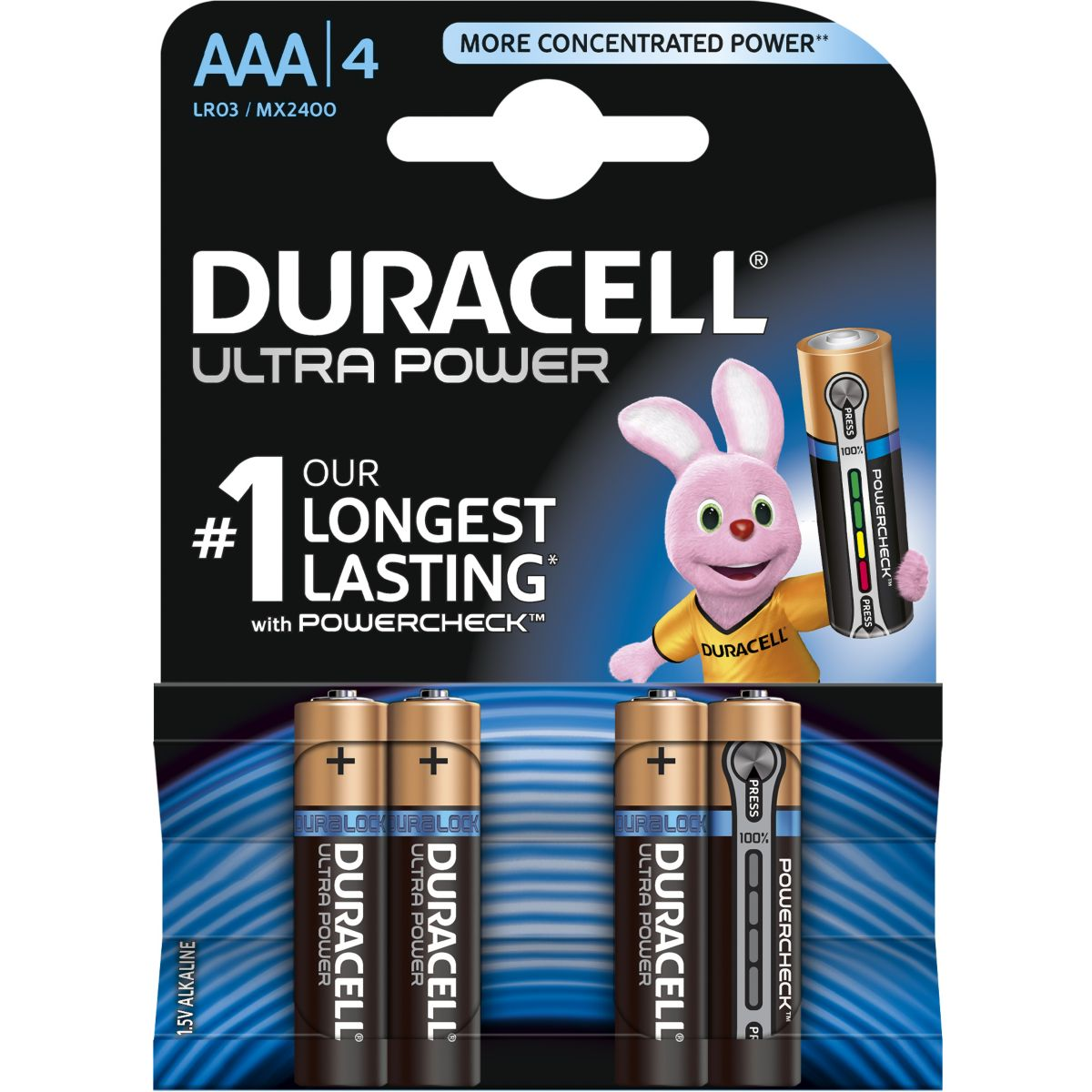 Pile DURACELL AA x4 Ultra Power LR06 (photo)