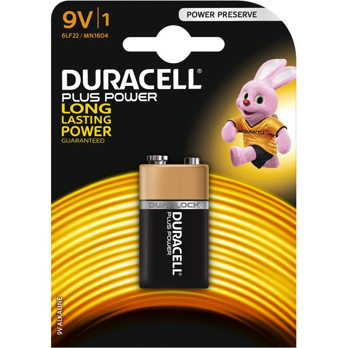 Pile DURACELL 9 Volts x1 Plus Power (photo)