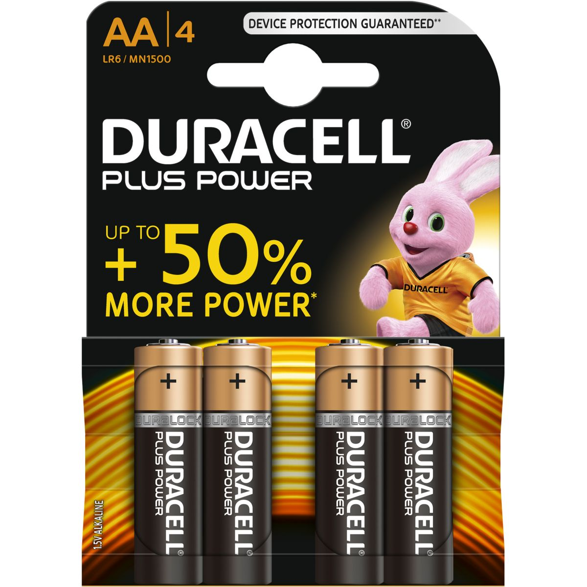 Pile DURACELL AA x4 Plus Power LR06 (photo)