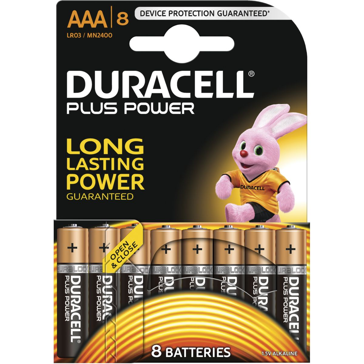 Pile DURACELL AAA x8 Plus Power LR03 (photo)