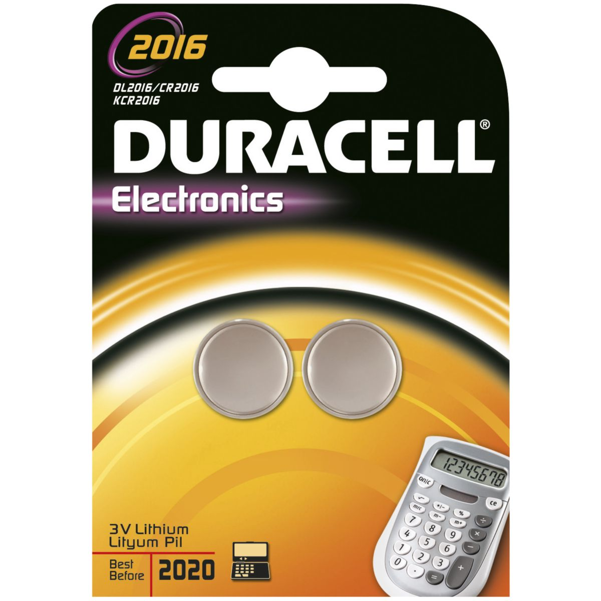 Pile DURACELL Lithium DL 2016 x2 (photo)