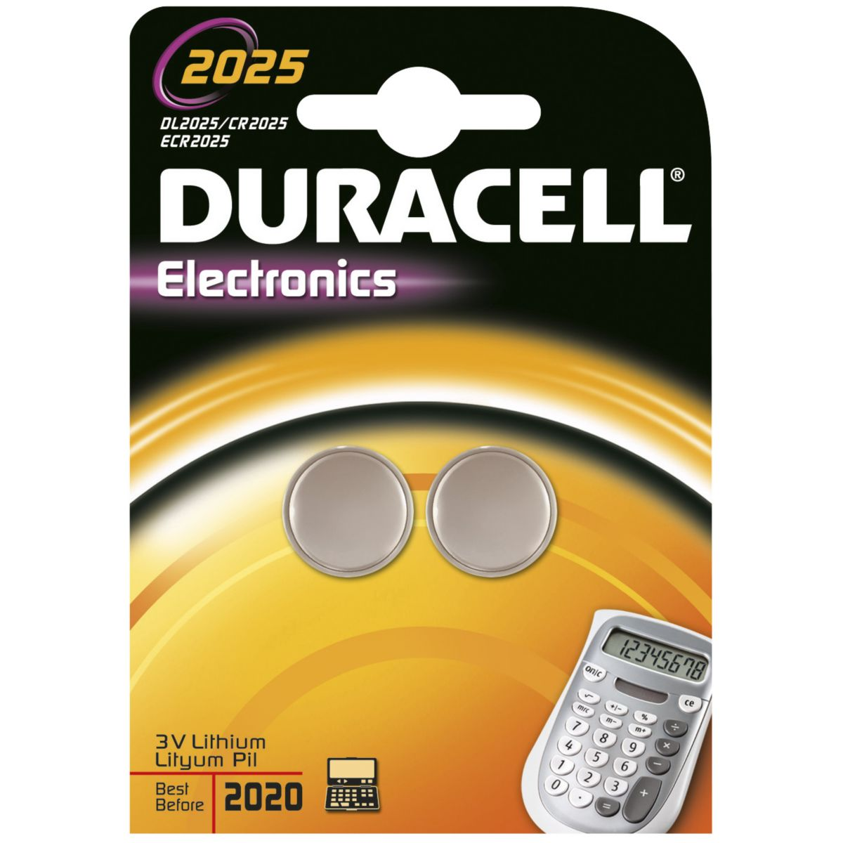 Pile DURACELL Lithium DL 2025 x2 (photo)