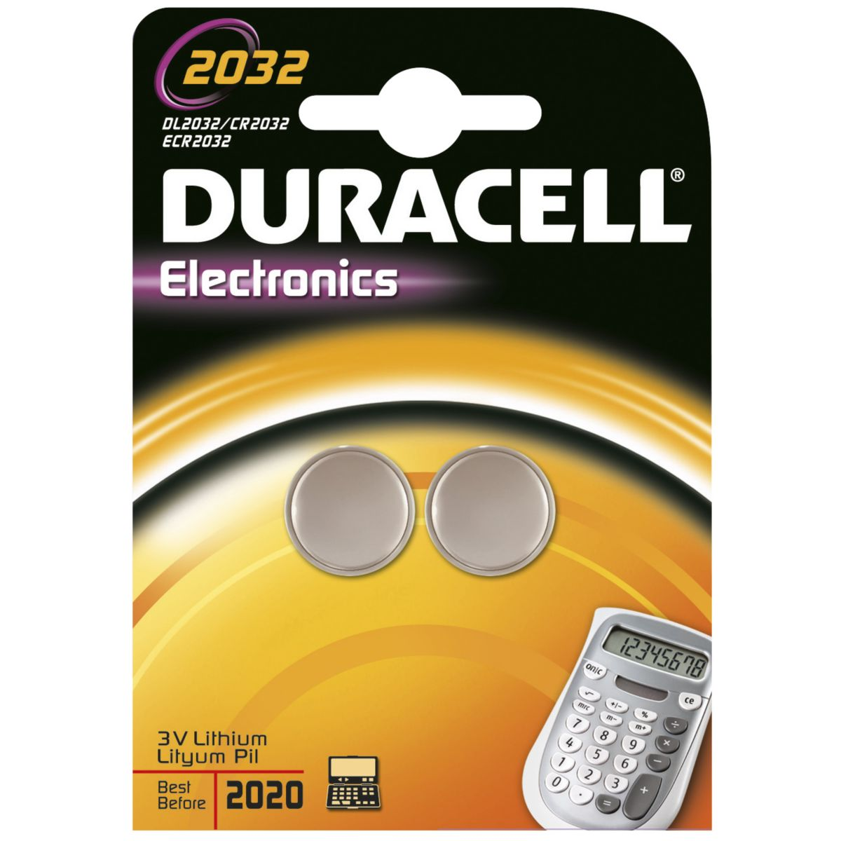 Pile DURACELL Lithium DL 2032 x2 (photo)