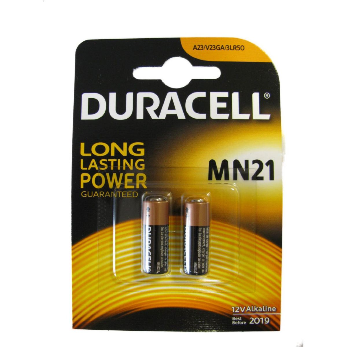 Pile DURACELL MN21 blister X 2 (photo)
