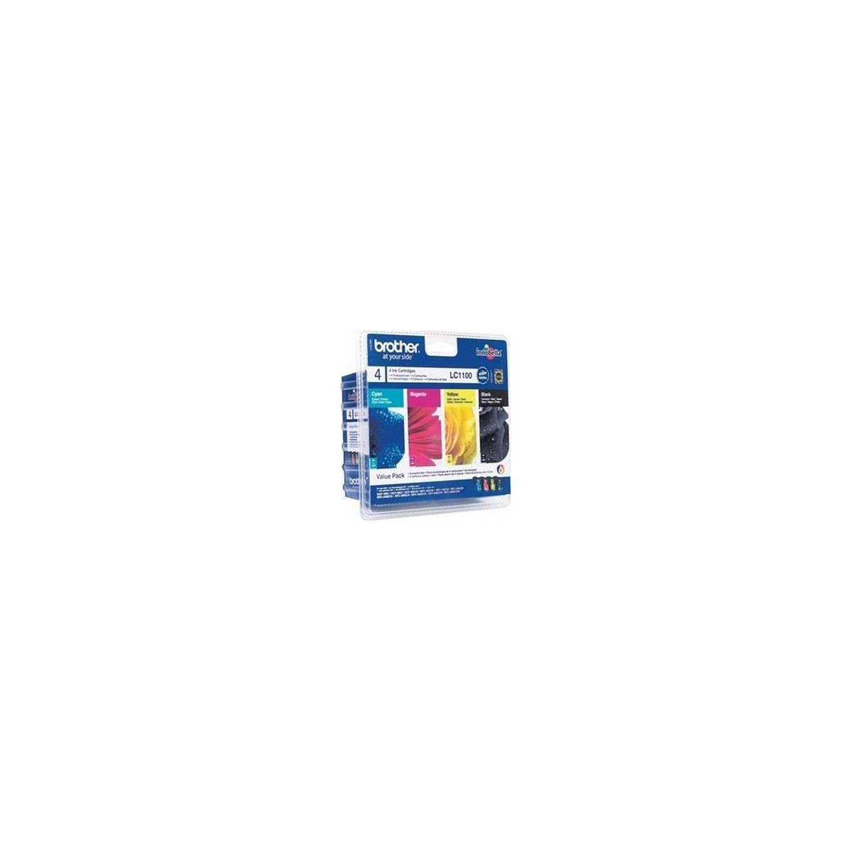 Multipack cartouches d'encre BROTHER LC1100 Noir, Jaune, Cyan, Magenta