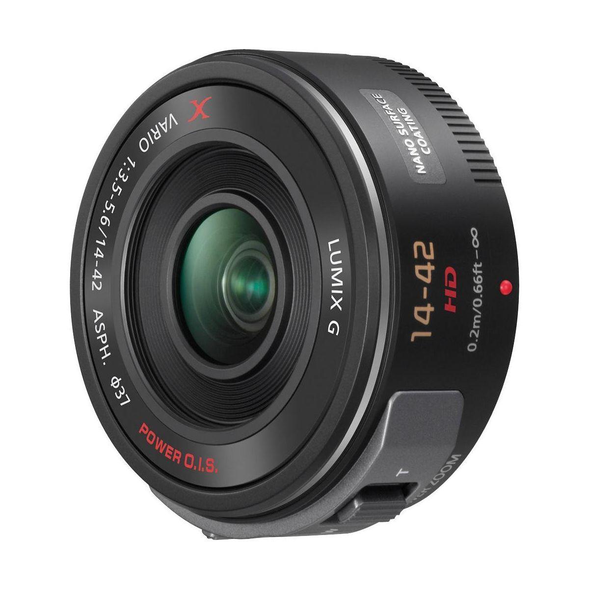 Objectif PANASONIC X Powerzoom 14-42mm f/3.5-5.6 PZ OIS noir Lumix G X pour Hybride Panasonic