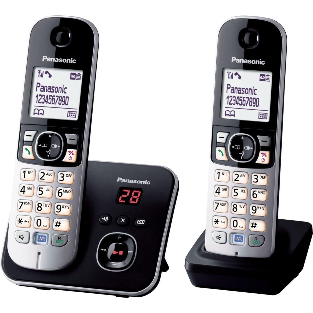 Téléphone répondeur sans fil duo PANASONIC TG6822