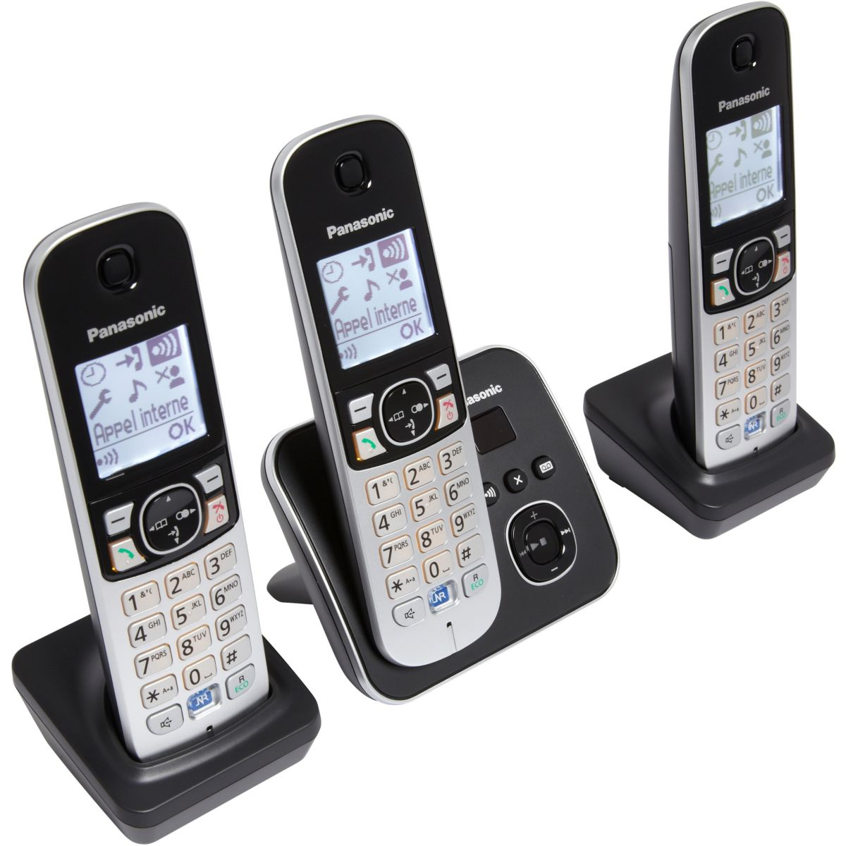 Téléphone répondeur sans fil trio PANASONIC TG6823FRB