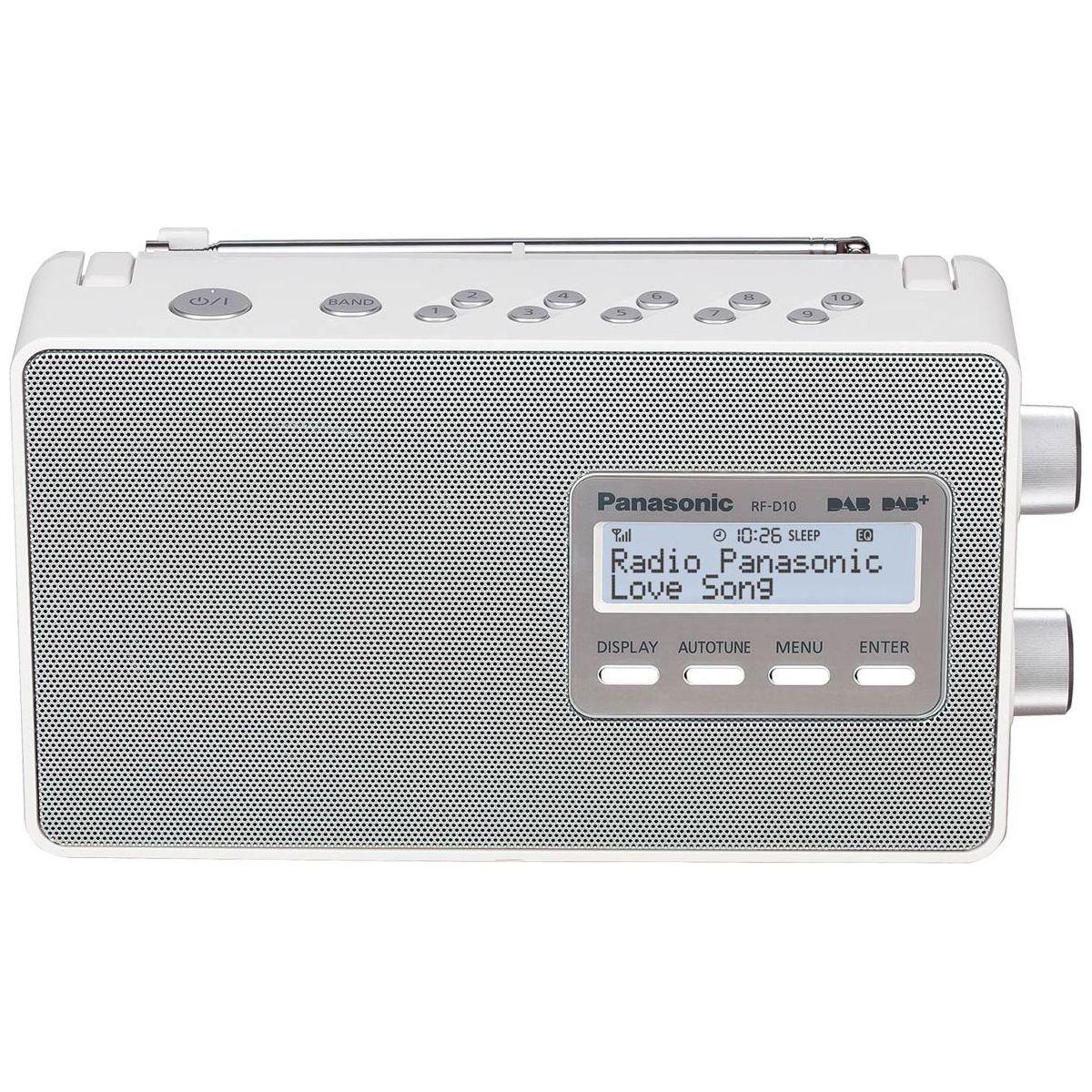 Radio numérique PANASONIC RF-D10 blanche