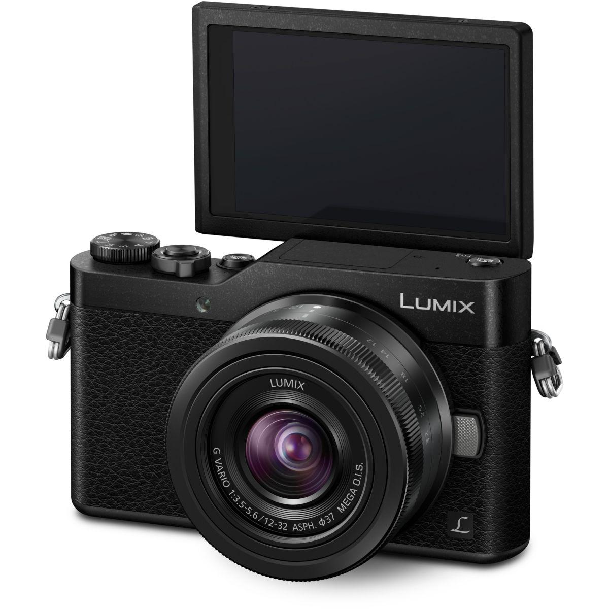 Appareil photo Hybride PANASONIC DC-GX800 Noir + 12-32mm f/3.5-5.6