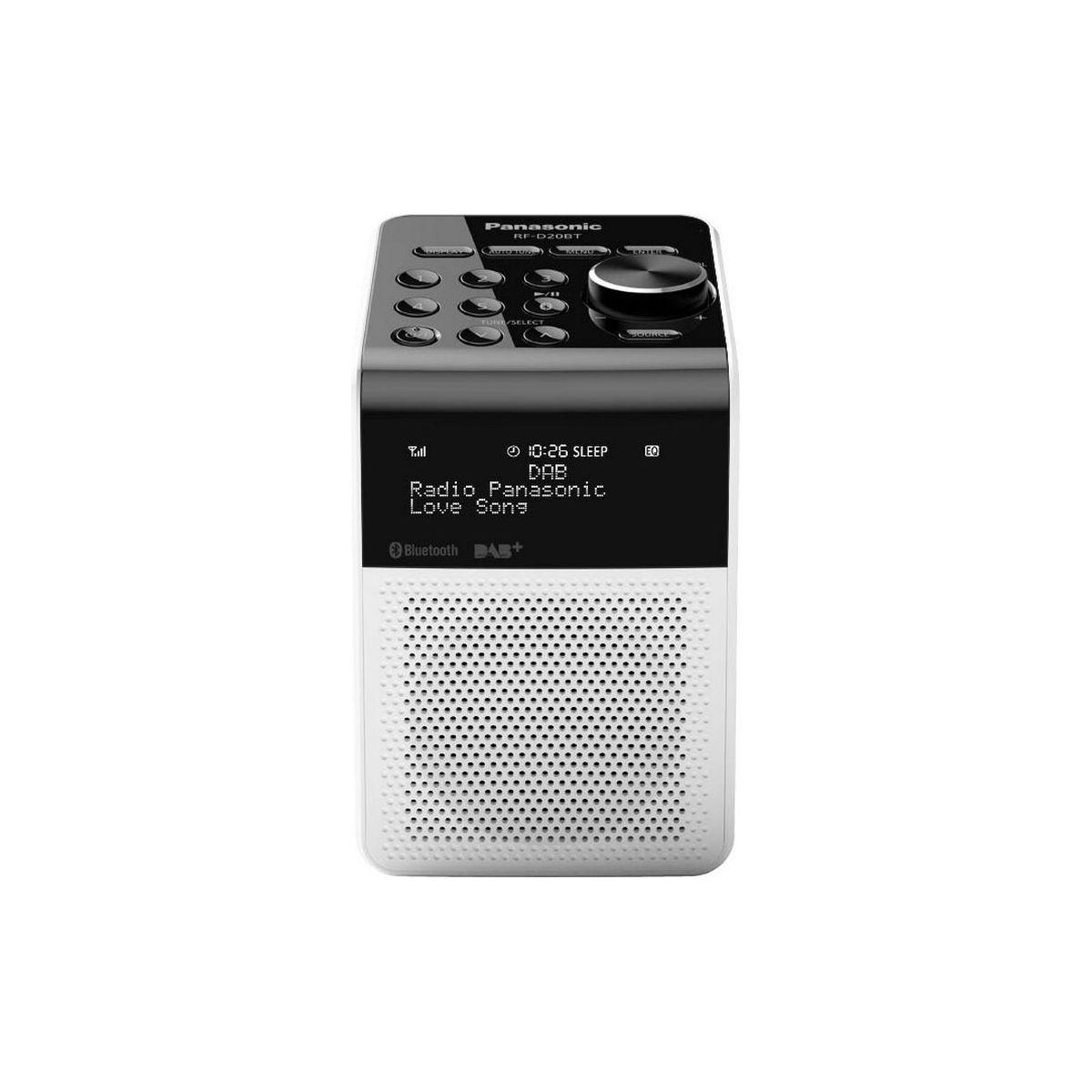 Radio numérique PANASONIC RF-D20 blanche