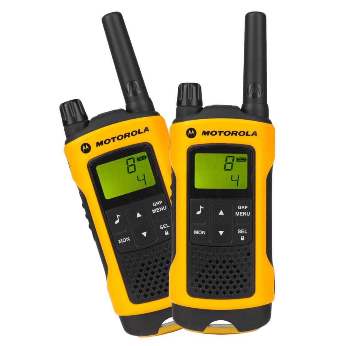 Talkie walkie MOTOROLA T80 Extreme Twin Jaune (photo)