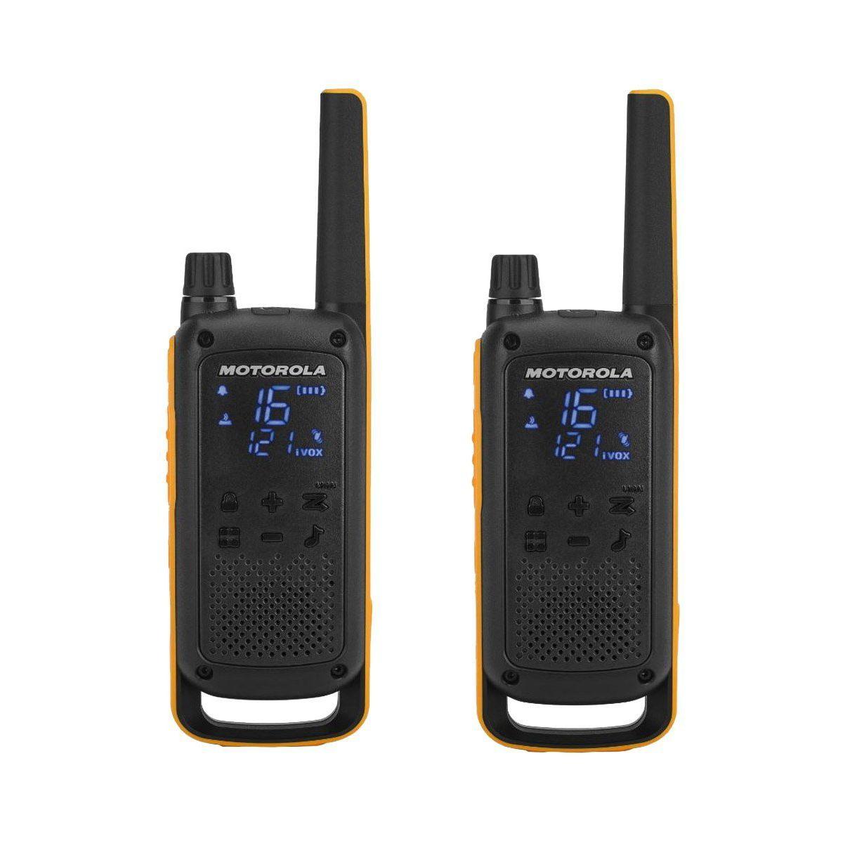 Talkie walkie MOTOROLA T82 Extreme Twin Noir/Jaune (photo)