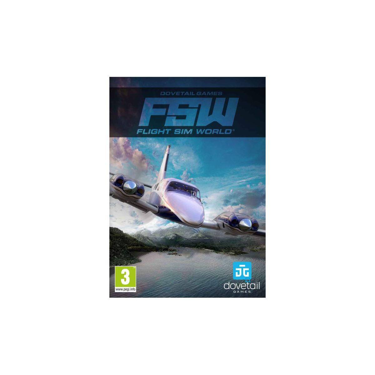 Jeu PC JUST FOR GAMES Flight Sim World (photo)