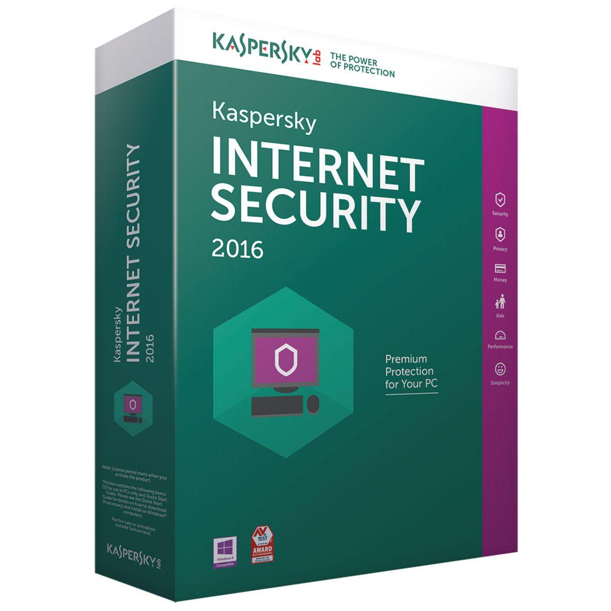 Logiciel antivirus et optimisation KASPERSKY Internet Security...