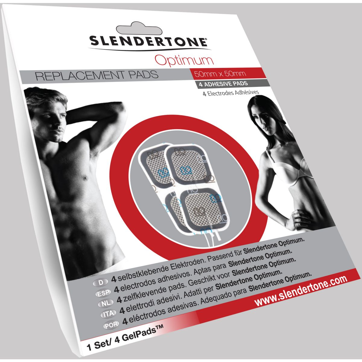 Electro-Stimulation SLENDERTONE ELECTRODES OPTIMUM 50X50 (photo)