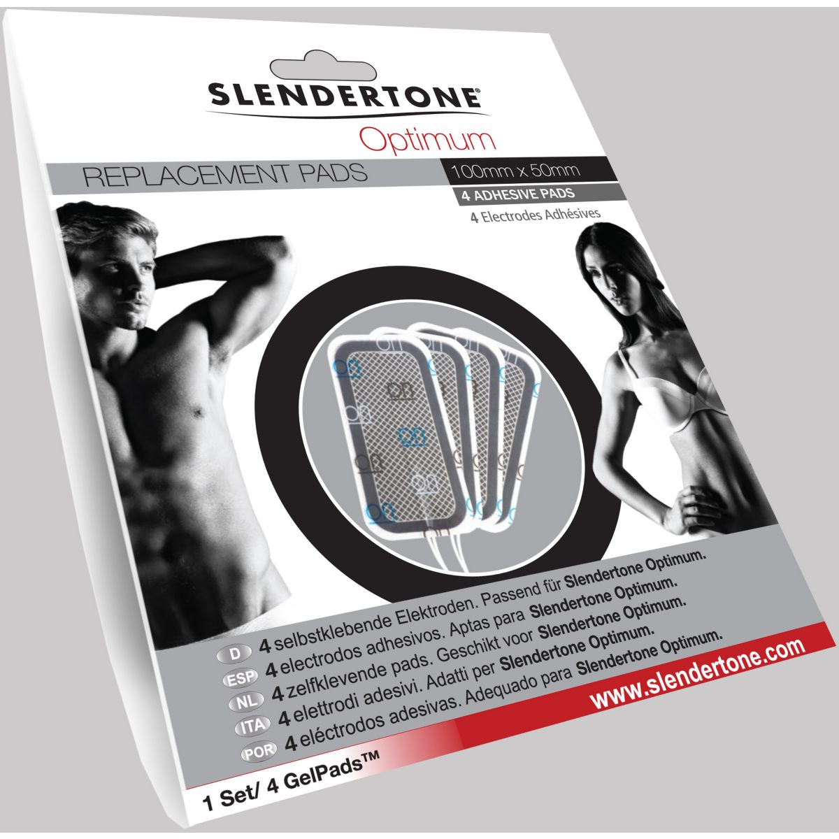 Electro-stimulation SLENDERTONE ELECTRODES OPTIMUM 50X100 (photo)