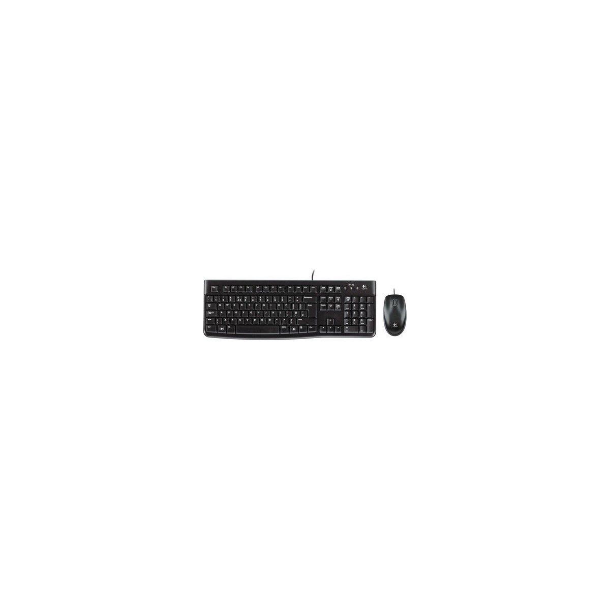 Pack Clavier + Souris LOGITECH MK120 Noire