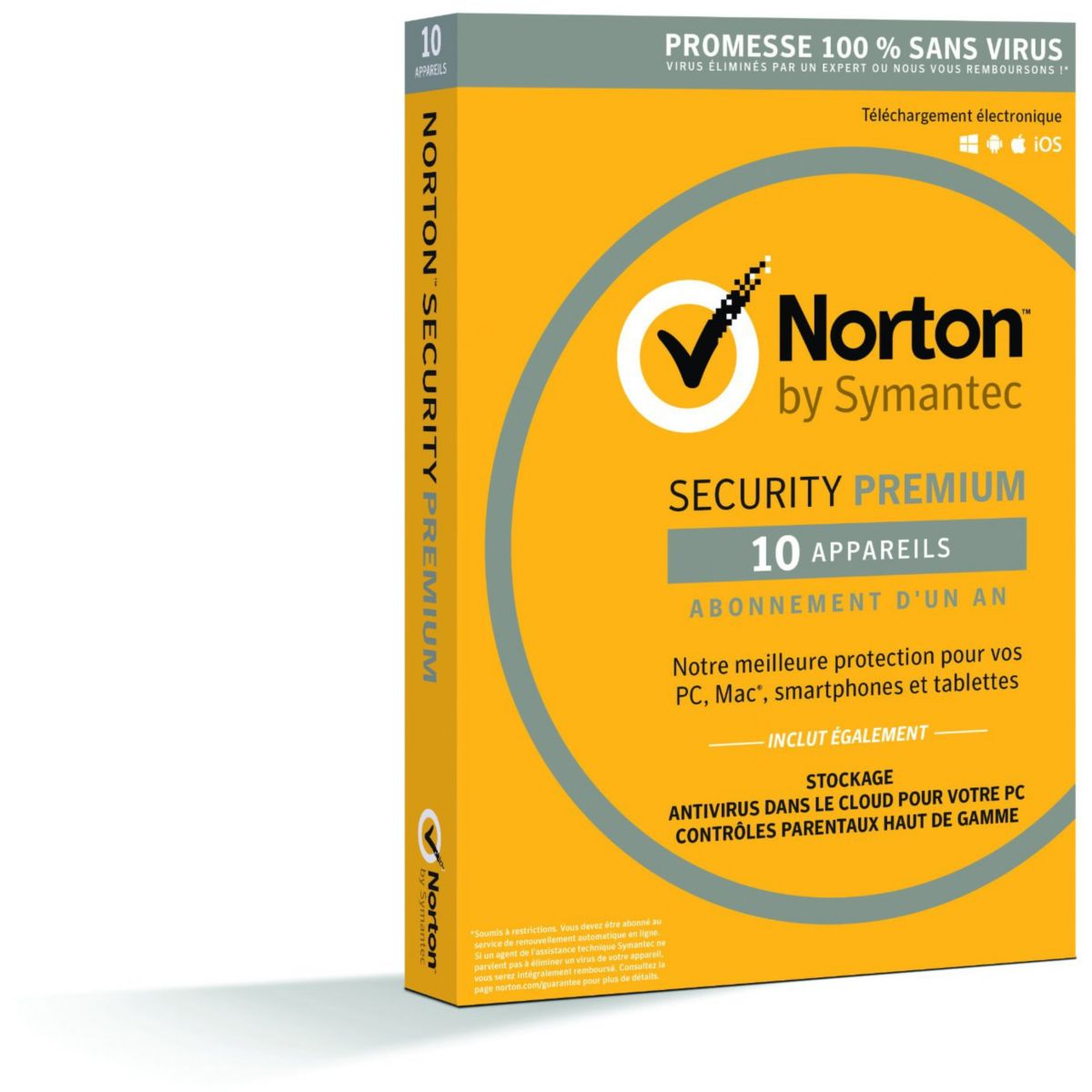 Logiciel antivirus et optimisation SYMANTEC Norton Security 2016 10 postes