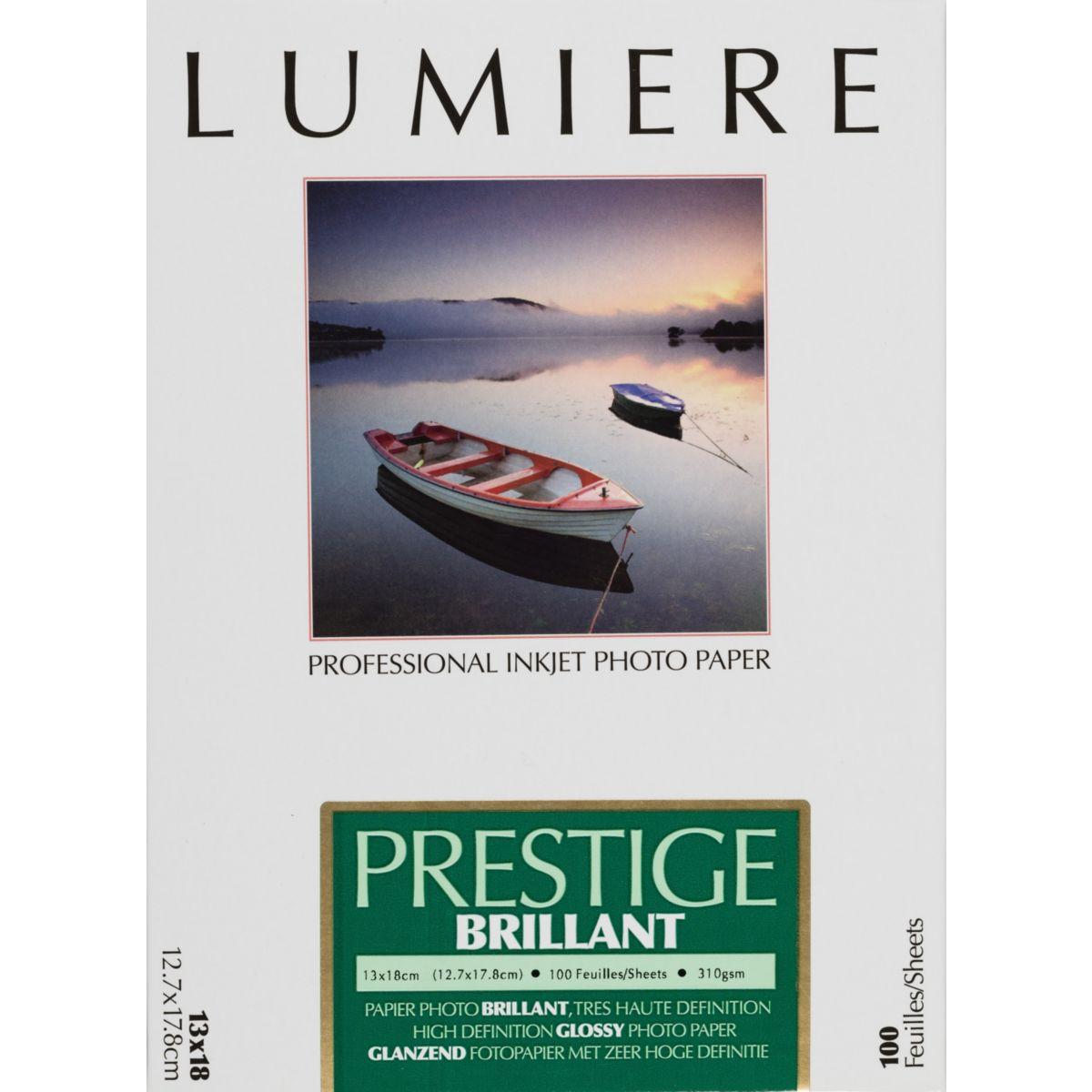 Papier photo LUMIERE Prestige Brillant 100f 12,7x17,8 310g